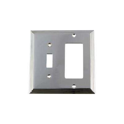 Deco Switch Plate with Toggle and Rocker in Bright Chrome