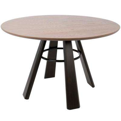 Round 4 legs walnut kitchen dining tables kitchen dining elton contemporary walnut and espresso 4750 in dia round dining table workwithnaturefo