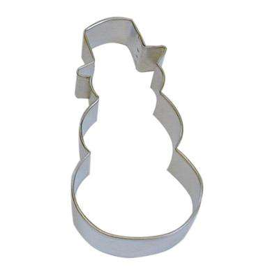 12-Piece 4 in. Snowman & Top Hat Tinplate Steel Cookie Cutter & Recipe