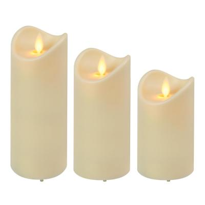 Weather Resistant LED Candles with Moving Flame (set of 3)