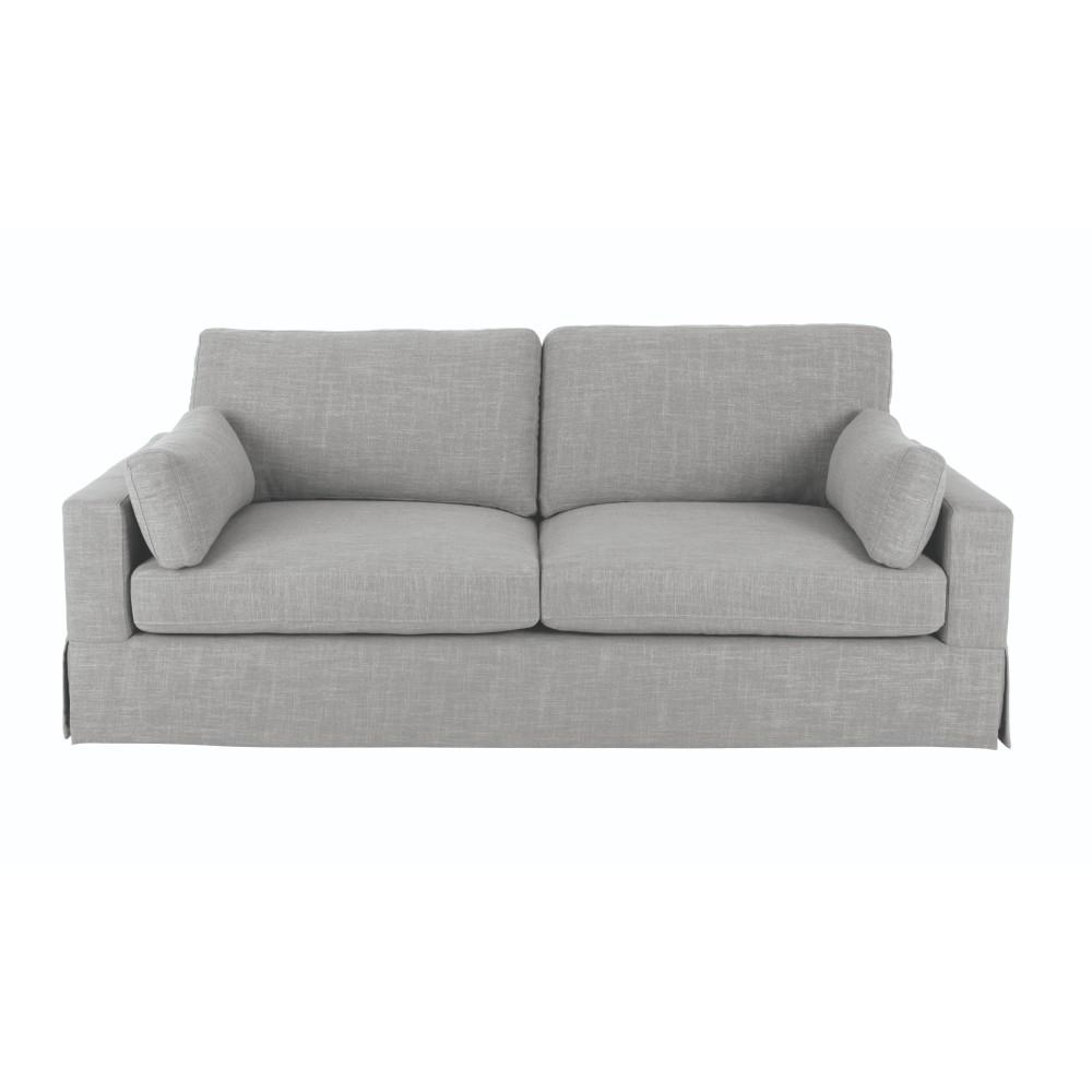 Home decorators collection addilyn smoke grey viscose sofa Home decorators collection sofa