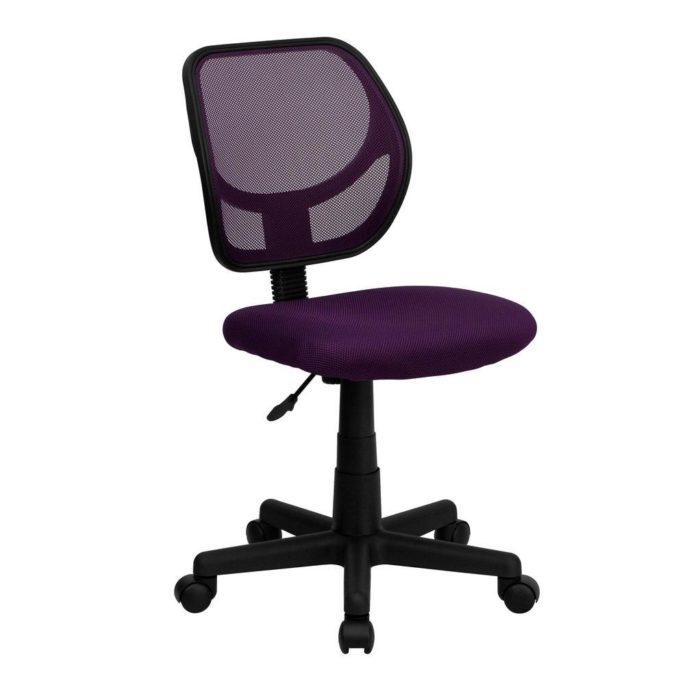Purple Mesh Swivel Task Chair
