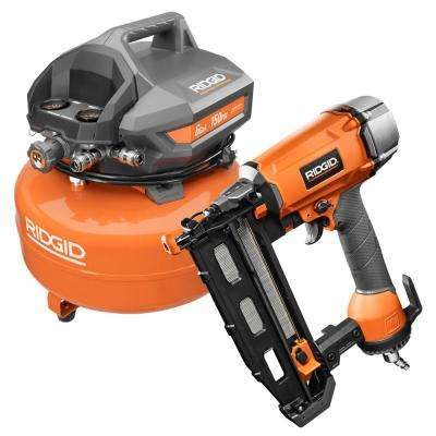 6 Gal. Portable Electric Pancake Air Compressor with 16-Gauge 2-1/2 in. Straight Finish Nailer and (200) Finish Nails