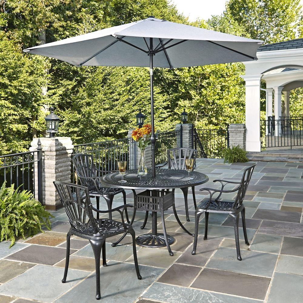 Giardino Collection Outdoor Dining: Home Styles Largo 48 In. W 5-Piece Patio Dining Set With