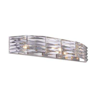 Squill 3-Light Polished Nickel Sconce