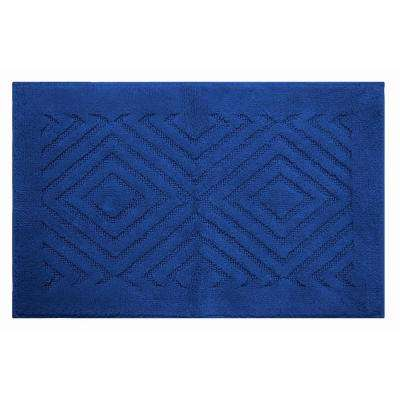 Trier Blue 20 in. x 30 in. and 20 in. x 20 in. Bath Rug Set (2-Piece)