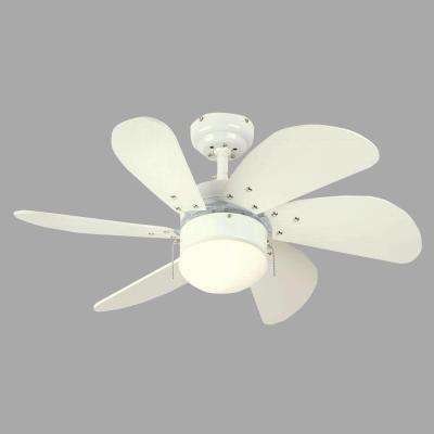 Turbo Swirl 30 in. White Ceiling Fan