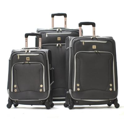 SkyHawks 3-Piece Expandable EVA Spinner Suitcase Set