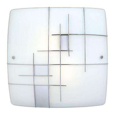 Raya 1 2-Light Chrome Integrated LED Ceiling Light