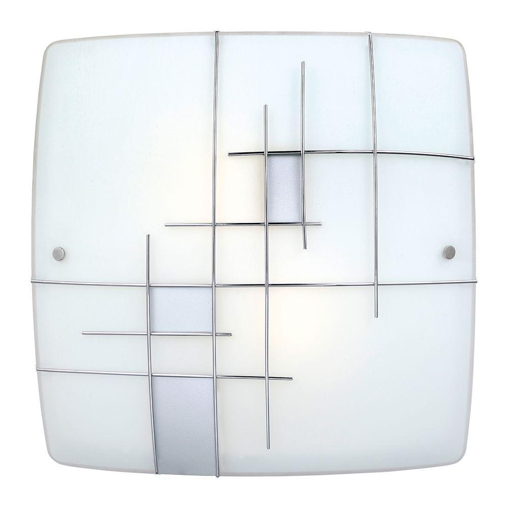Raya 1 2-Light Chrome Integrated LED Ceiling Light