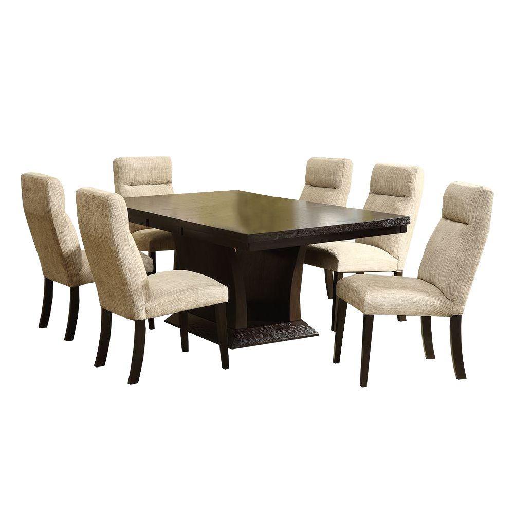 Powell 7-Piece Espresso Dining Set