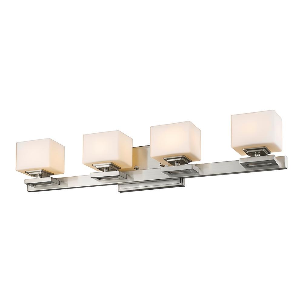 4-Light Brushed Nickel LED Bath Light · Filament Design ...  sc 1 st  The Home Depot & Filament Design - Lighting - The Home Depot azcodes.com
