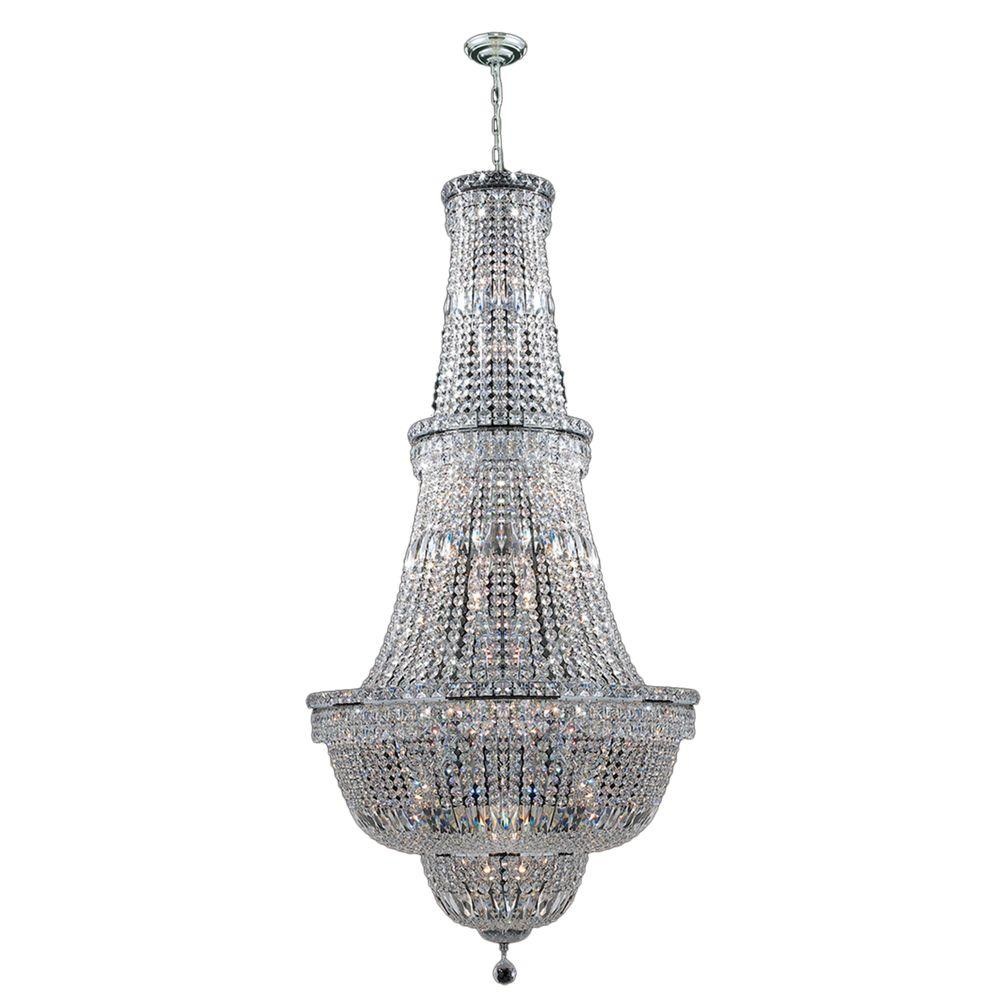 Worldwide Lighting Empire Collection 34-Light Polished Chrome ...