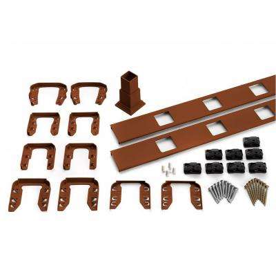 Transcend 91.5 in. Composite Fire Pit Square Baluster Stair Accessory Kit