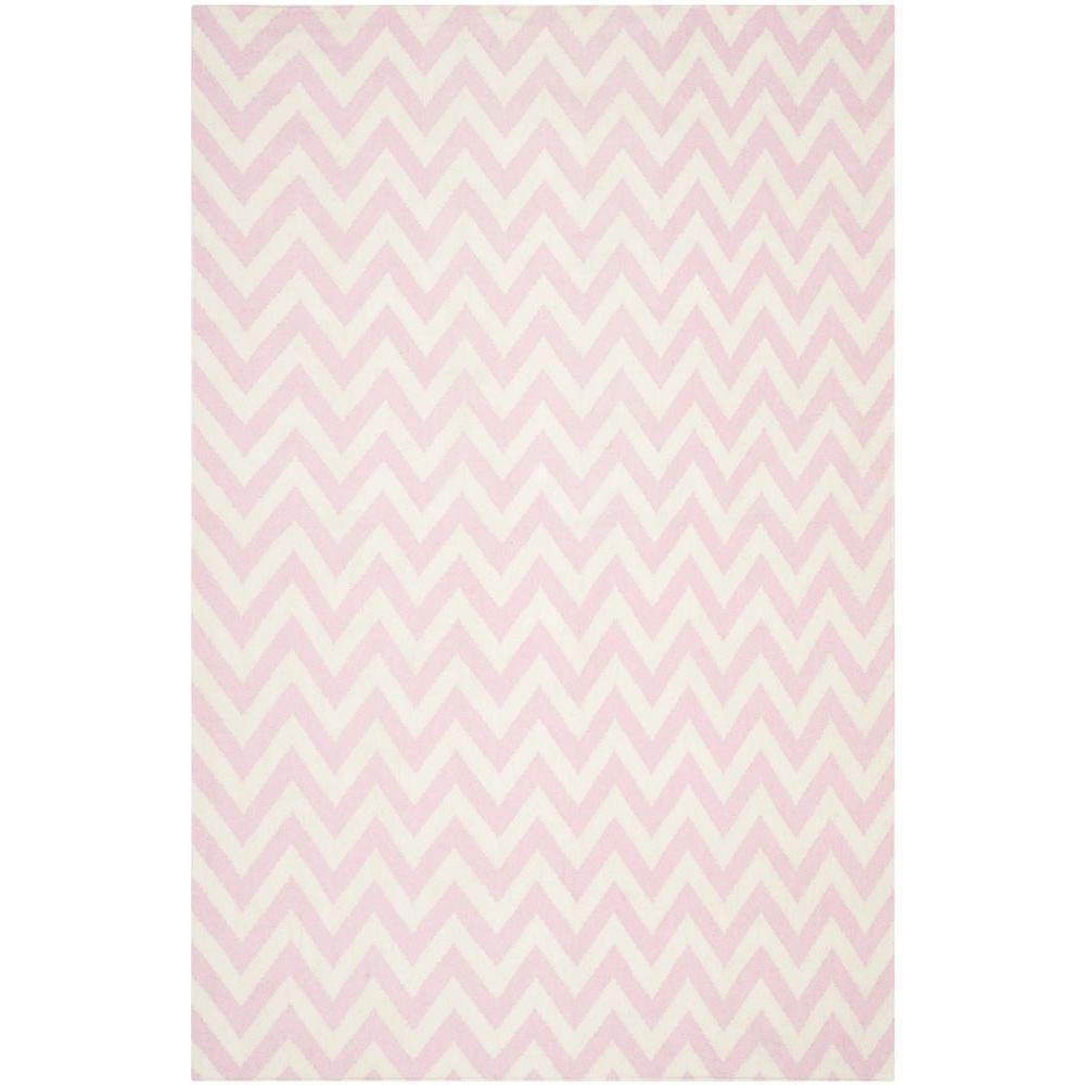 Safavieh Dhurries Pink/Ivory 3 ft. x 5 ft. Area Rug
