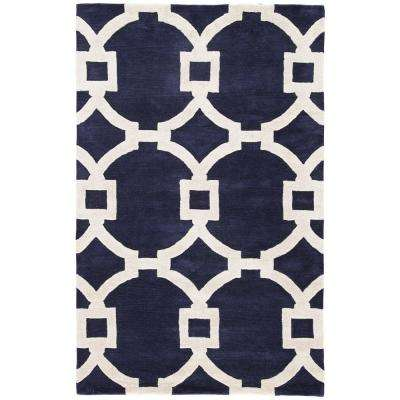 Medieval Blue 5 ft. x 8 ft. Trellis Area Rug