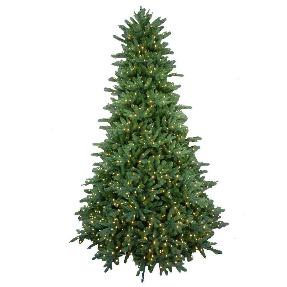 9 ft pre lit led natural foxtail fir artificial christmas tree with warm white