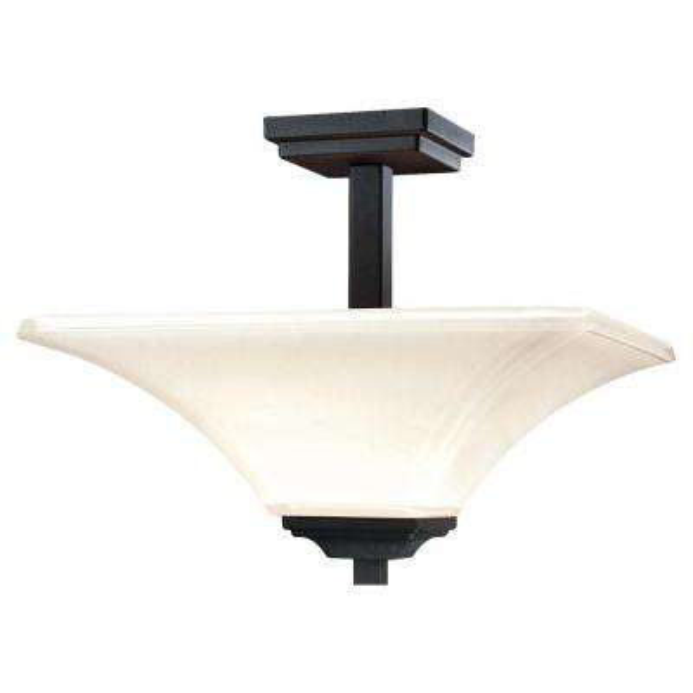 Agilis 2-Light Black Semi-Flush Mount Light