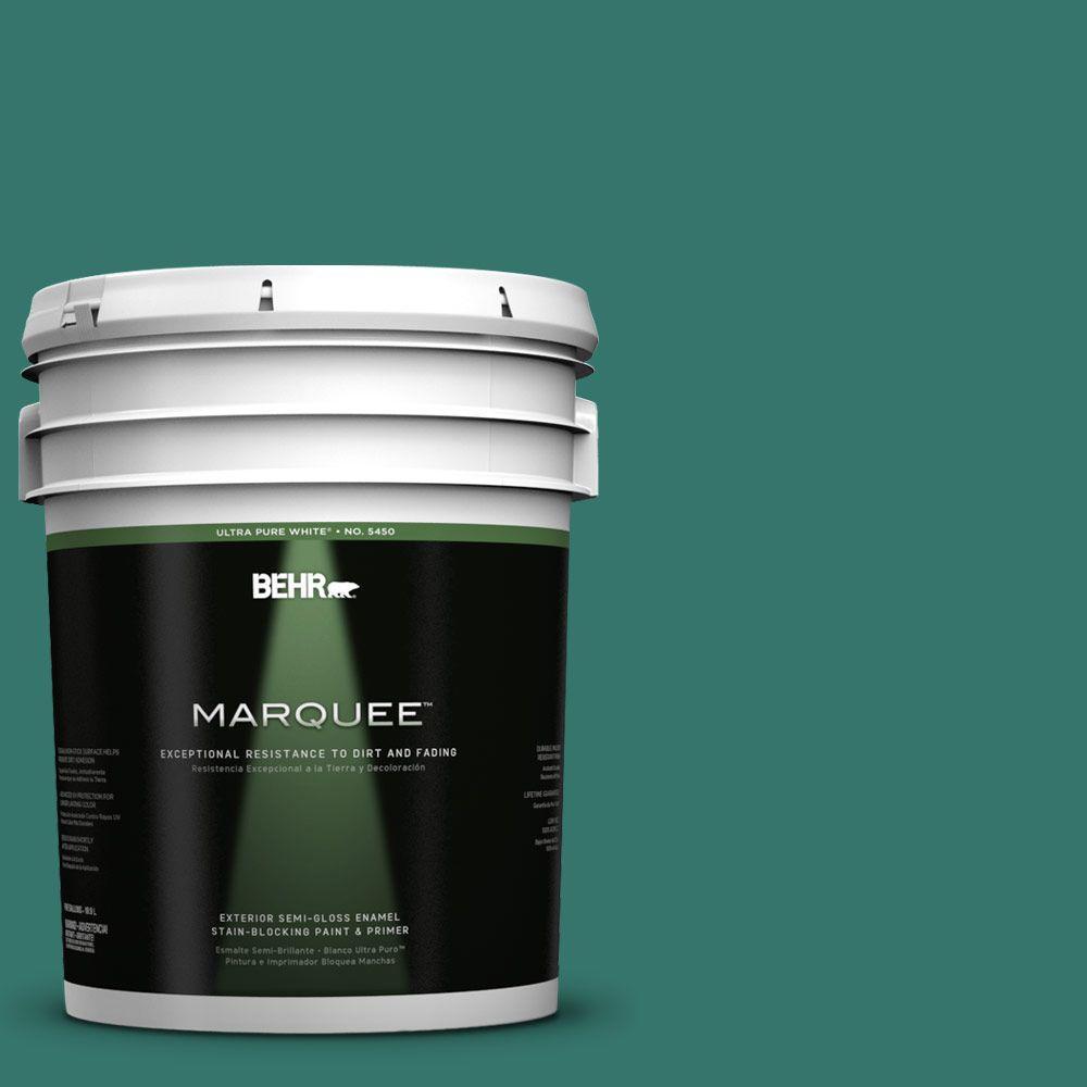 BEHR MARQUEE 5-gal. #490D-7 Greensleeves Semi-Gloss Enamel Exterior Paint