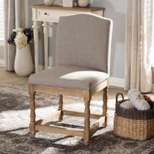 Baxton Studio Paige Beige Fabric Upholstered Dining Chair 28862 7366