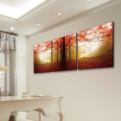 """24 in. x 72 in. """"Autumn Leaves"""" Printed Wall Art"""