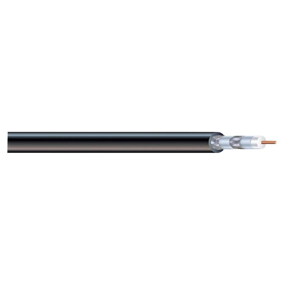Syston Cable Technology RG6 Quad Shield 500 ft. Black CM Coaxial Cable