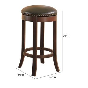 Fantastic 29 In H Brown Black Swivel Backless Bar Stool Set Of 2 Pdpeps Interior Chair Design Pdpepsorg