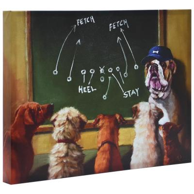 """""""Game Plan"""" Graphic Art Print on Wrapped Canvas Dog Wall Art"""