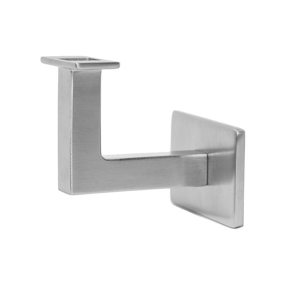 Square Slim 2.5 In. Stainless Steel Handrail Wall Bracket