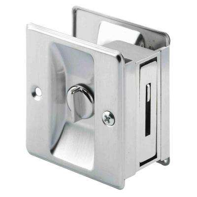 Satin Nickel Pocket Door Privacy Latch
