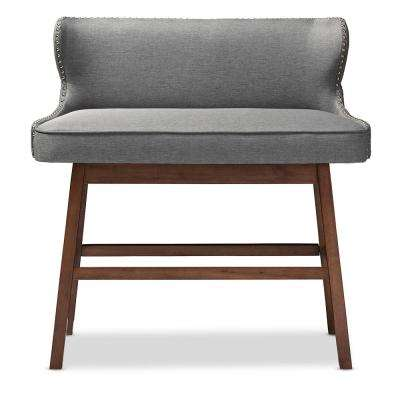 Gradisca Gray Fabric Upholstered Bar Bench