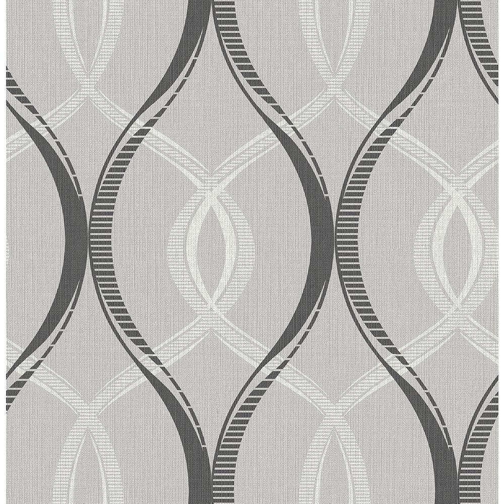 Echo Black Lattice Wallpaper Washable Wallpaper Sample