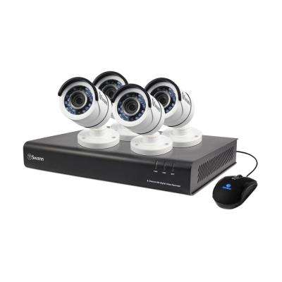 4500 Series 8-Channel TVI 1080p DVR with 1TB and 4 x Bullet Cameras, White
