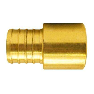 1 in. Brass PEX Barb x 1 in. Male Copper Sweat Adapter