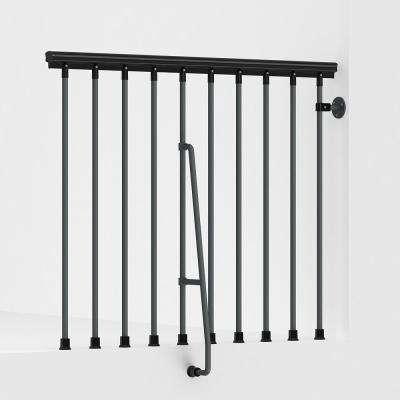 SKY030 47 in. Iron Grey Balcony Rail Kit
