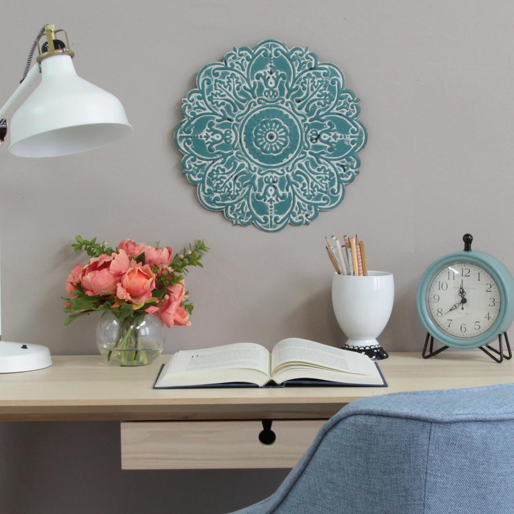 Stratton Home Decor Rustic Medallion Wall Art White ~ Stratton home decor small blue