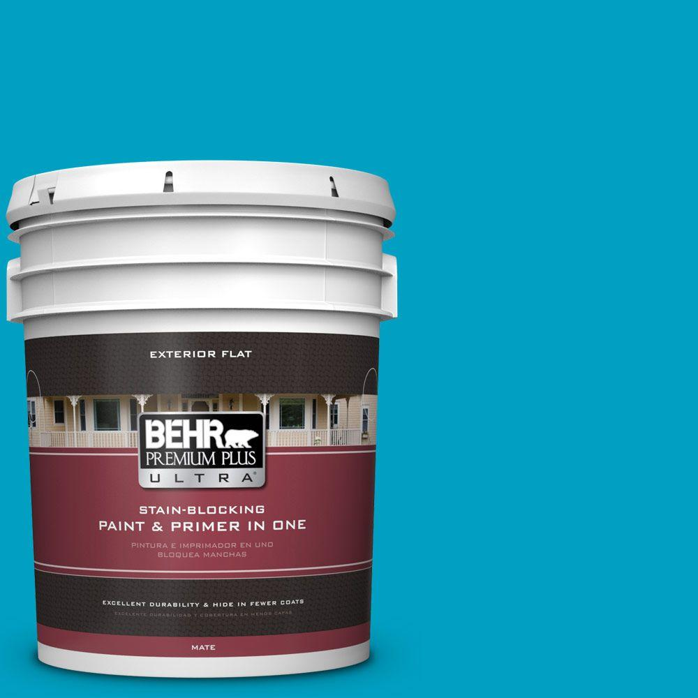 5-gal. #530B-6 Tropical Holiday Flat Exterior Paint