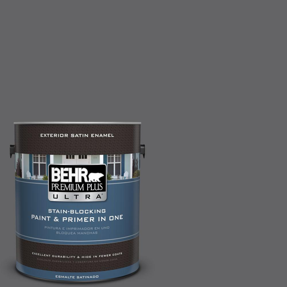BEHR Premium Plus Ultra 1-gal. #N530-6 Digital Satin Enamel Exterior Paint