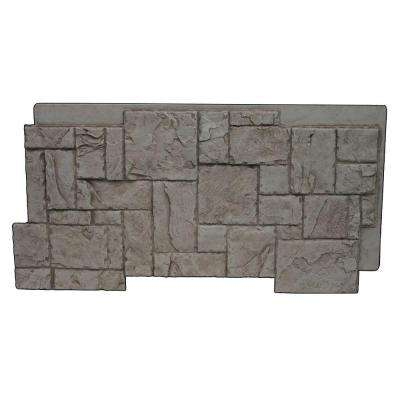 Faux Windsor Stone 24-3/4 in. x 48-3/4 in. x 1-1/4 in. Panel Gray Rock
