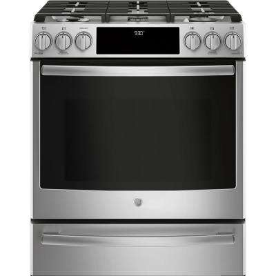 5.6 cu. ft. Slide-In Smart Dual Fuel Range with Self Cleaning and True Convection and WiFi in Stainless Steel