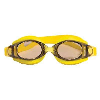 Silicon Sport Yellow Swimming Pool Goggles