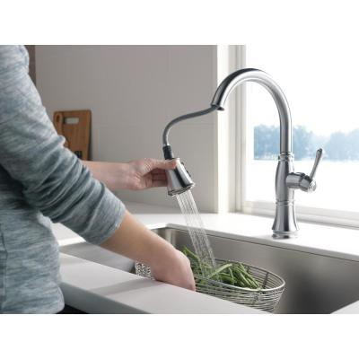 Cassidy Single-Handle Pull-Down Sprayer Kitchen Faucet in Lumicoat Arctic Stainless