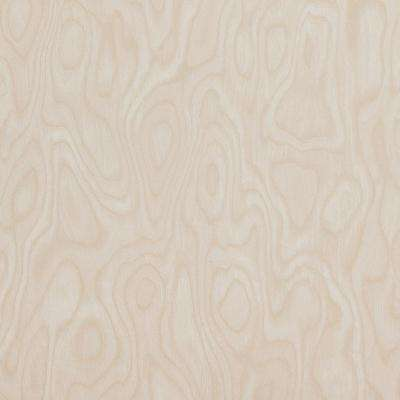 Wood Grain Faded Beige and Brown Wallpaper