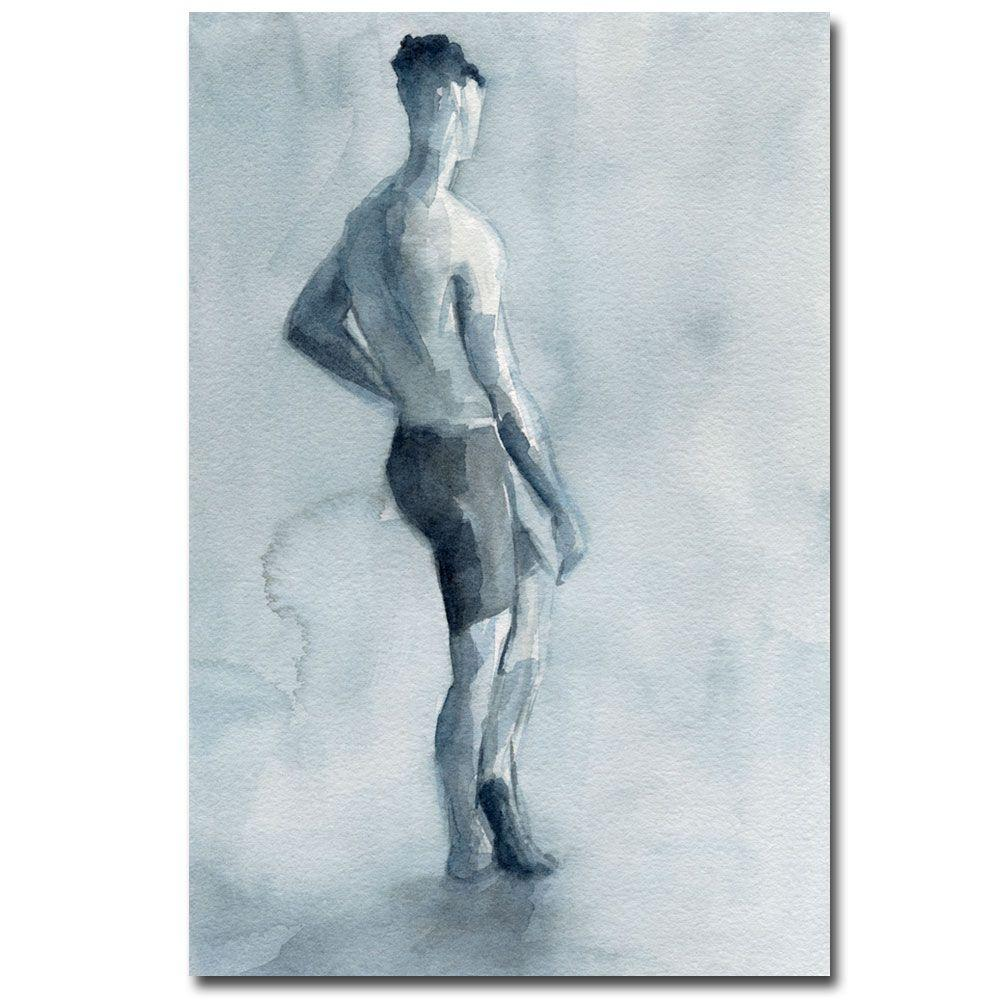 Trademark Fine Art 30 in. x 47 in. Man in Bike Shorts Canvas Art-DISCONTINUED