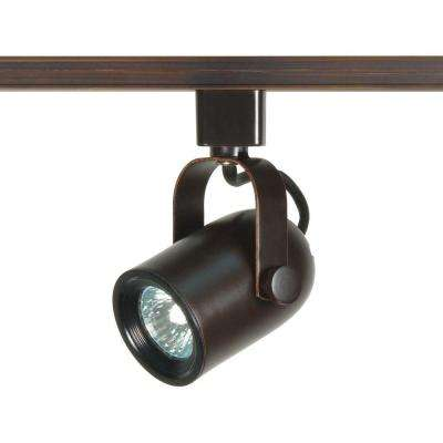 1-Light MR16 120-Volt Russet Bronze Round Back Track Lighting Head