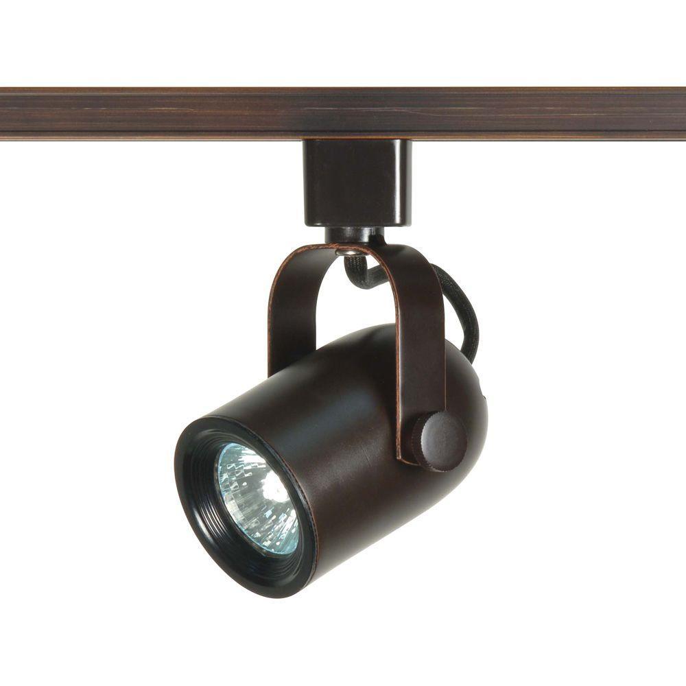 1-Light MR16 120-Volt Russet Bronze Round Back Track Lighting Head