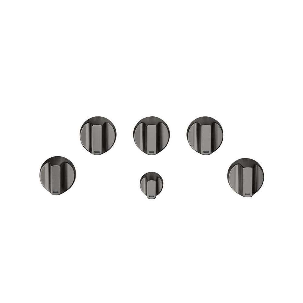 Gas Cooktop Knob Kit in Brushed Black