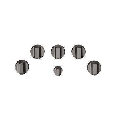 Gas Cooktop Knob Kit in Brushed Black