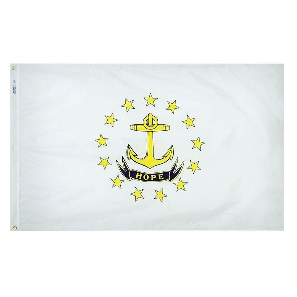 Annin Flagmakers 4 ft. x 6 ft. Rhode Island State Flag