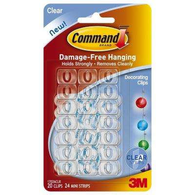 Clear Decorating Clips with Clear Strips (20-Pack)